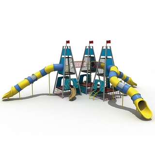 Aire de jeux Triangle Rope Kids Tower avec Rocket Tower
